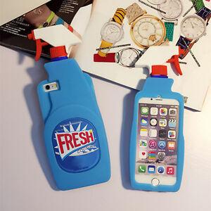 3d fresh spray cleaner bottle soft silicone case cover for iphone 6 6s 7 7 pl. Black Bedroom Furniture Sets. Home Design Ideas