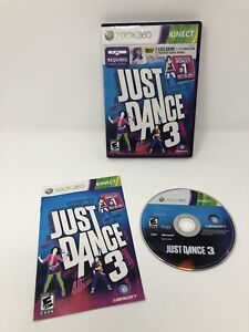 Just dance 3 xbox 360 kinect dancing game complete   ebay.