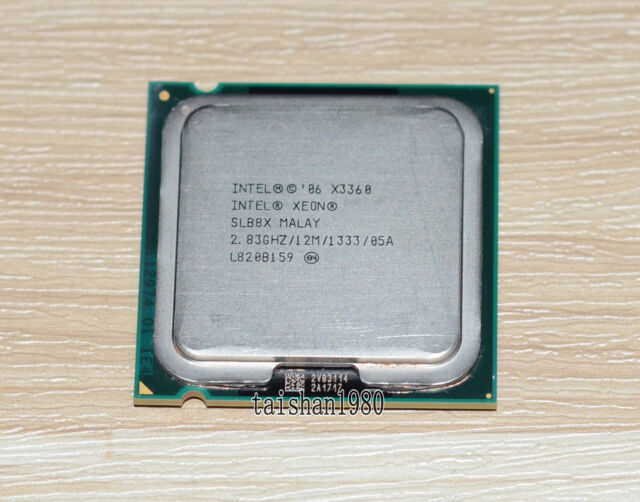 ntel Xeon X3360 SLB8X 2.83 GHz 12Mb 1333MHz Socket 775 Quad-Core Processor CPU