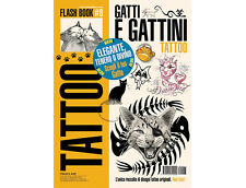CAT & KITTEN Tattoo Flash Design Book 64-Pages Sketch Black Color Ink Art Supply