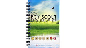 BSA BOY SCOUTS  2016 REQUIREMENTS HAND BOOK SPIRAL COIL BOUND PAGES LAY FLAT NEW