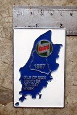 LAMBRETTA Vespa Placca Badge Plakette CASTROL VINTAGE ISLE OF MAN 1967 DOUGLAS
