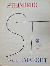 Steinberg Saul Lithographie Affiche 160 x 120 cm art abstrait expo Maeght USA