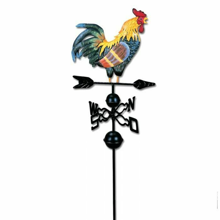 Metal Weather Vane With Rooster Garden Patio Decorations Weathervanes Ornaments