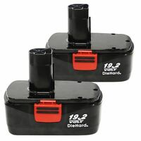 2 Pack 3000mah Replacement For Craftsman 130279005 C3 19.2v Diehard Battery Wp