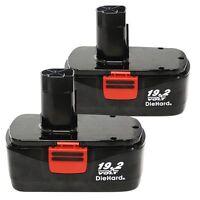 2 Pack 3000mah Replacement For Craftsman 130279005 C3 19.2v Diehard Battery Ek