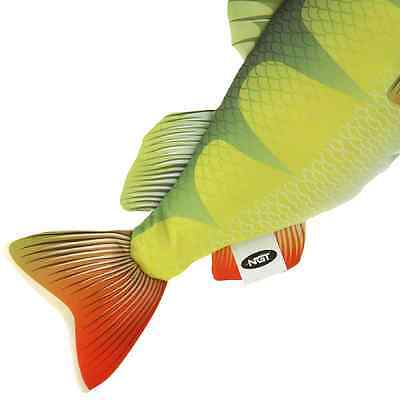 NEW NGT Perch Anglers Fish Shaped Pillow Cushion Or Toy Great Gift Idea!! 60cm