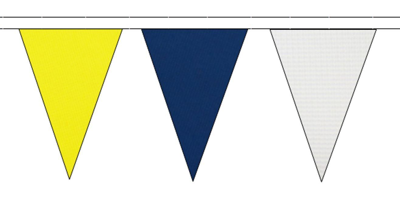 jaune Royal bleu & blanc Triangular Flag Bunting - 50m with 120 Flags