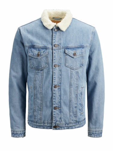 Giacca Jack /& Jones 12141550 Uomo Giubbino Giubbotto Orsetto Jeans Vintage Denim