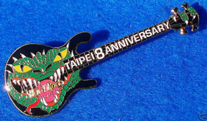 Taipei-de-DRAGON-Tete-8th-Anniversaire-Noir-Guitare-Hard-Rock-Cafe-Pin-Le