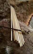 "*12 Wood  Cedar Dowel Arrow Shafts 5/16 x 26.5"" Primitive Archery Craft  Dowel"