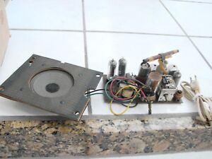 1950-039-s-Birdhouse-Radio-for-parts-repair-chassis-amp-speaker-needs-on-off-swith