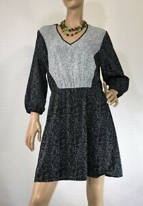 H-amp-M-SIZE-42-14-AU-SPOTTED-LINED-DRESS