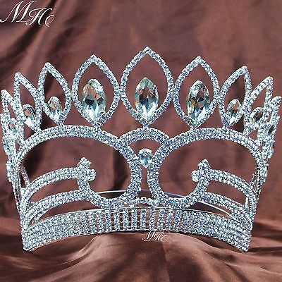 Fantastic Large Crowns Wedding Pageant Tiaras Rhinestones Prom Party Costumes