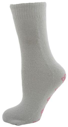 RJM Ladies Non Slip Slipper Socks with Grips