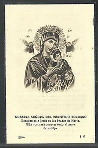 image pieuse antigua de la Virgen del Perpetuo Socorro holy card santino estampa v39zrSDj-08062518-536210934