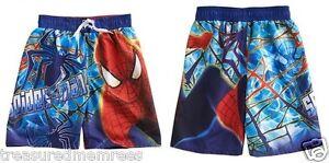 b19daa0a90 Image is loading Spiderman-Board-Shorts-Swim-Trunks-Swimsuit-Size-10-