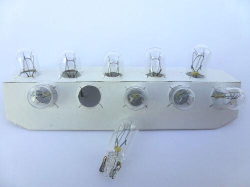 0,46€//Einheit 10x NARVA® 24V 5W W5W Sockel W2,1x9,5d Glassockel Standlicht