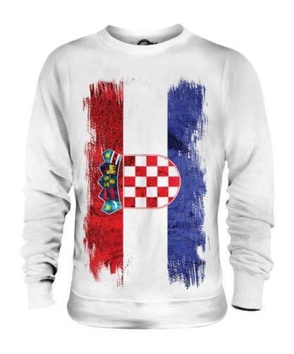 Kroatien Grunge Flag Unisex Pullover Top Hrvatska Fußball Kroatische