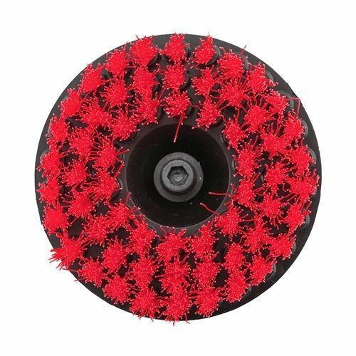 Red Chemical Guys Carpet Brush with Drill Attachment Heavy Duty ACC/_201/_HD