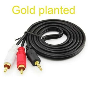 Gold 35mm to 2 rca audio y speaker cable for ipad 2 3 4 5 air mini image is loading gold 3 5mm to 2 rca audio y greentooth Images