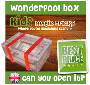 Puzzle Box Magic Illusion Trick Wonder Fool Box Pranks Jokes /& Novelties