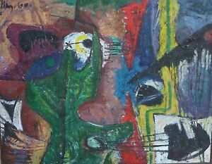 INCREDIBLE MID CENTURY ABSTRACT EXPRESSIONIST PAINTING ... - photo#50