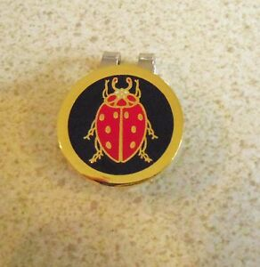 1-only-BLACK-amp-RED-BEETLE-GOLF-BALL-MARKER-WITH-NICE-HAT-CLIP