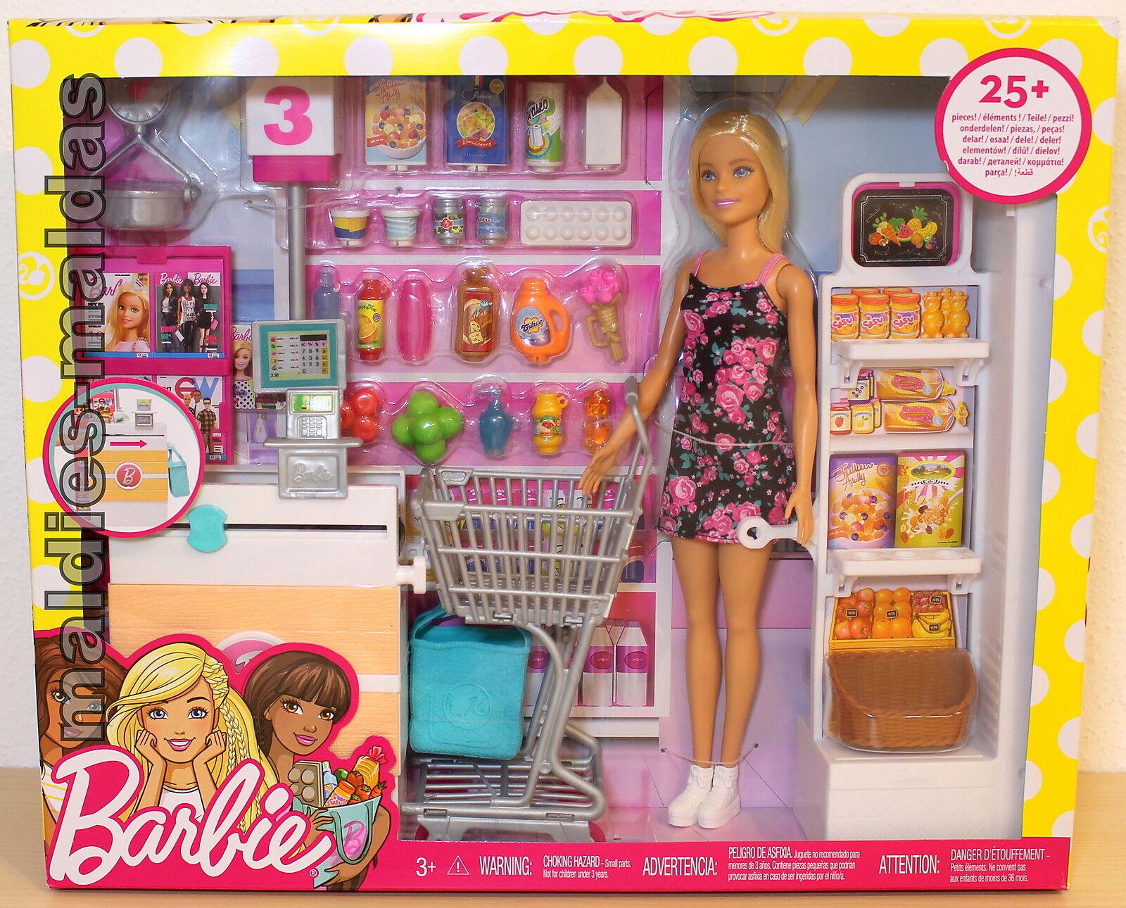 Barbie Barbie Barbie Supermarkt Spielset mit Puppe FRP01 NEU OVP 0b0d91