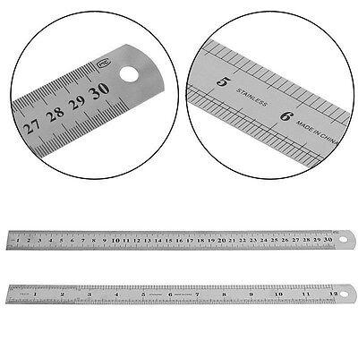 Stahl Edelstahl Taschen Tasche Metrische Metall Lineal Messung Doppelseitig O9T9