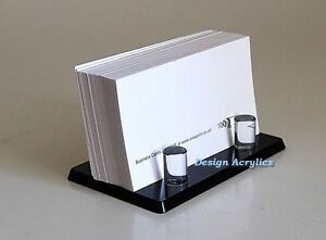 Black acrylic business card holder post modern stylish ebay image is loading black acrylic business card holder post modern stylish colourmoves
