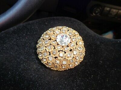 Vintage Signed Sandor Rhinestone Brooch Pin
