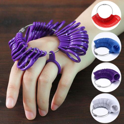 28 Ring Sizer Ringgröße Finger Ringmaß Ringmessgerät Ringstock Gauge-Messen