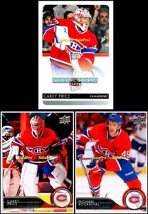 3x-UPPER-DECK-ULTRA-2014-CAREY-PRICE-100-MICHAEL-BOURNIVAL-106-CANADIENS-LOT