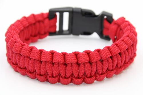 Survival Paracord Bracelet Camo Wristband Military Camping Hiking Emergency Gear