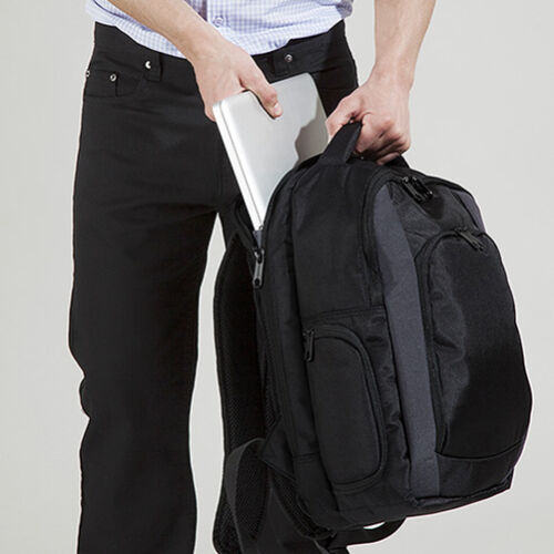 "Quadra Tungsten™ Laptop Backpack Upto 15.6/"" Inch Black Business Bag QD968"