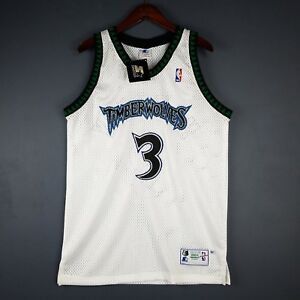 0ab618295 Image is loading 100-Authentic-Stephon-Marbury-Vintage-Starter-Wolves-Jersey -