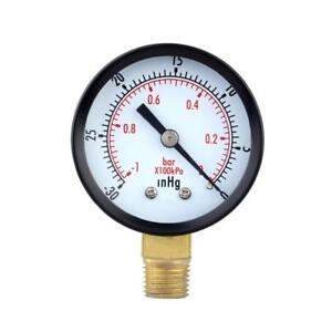 Mini Air Compresseur Cadran Compteur à vide Manomètre de pression 0-30PSI