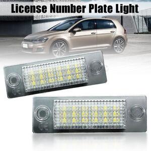 18LED-luz-De-Licencia-Numero-De-Matricula-Para-VW-Transporter-T5-Caddy-Touran-Jetta