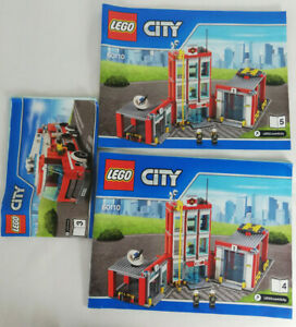 3-x-MANUALS-for-LEGO-City-Fire-Station-Set-60110-manuals-3-4-amp-5