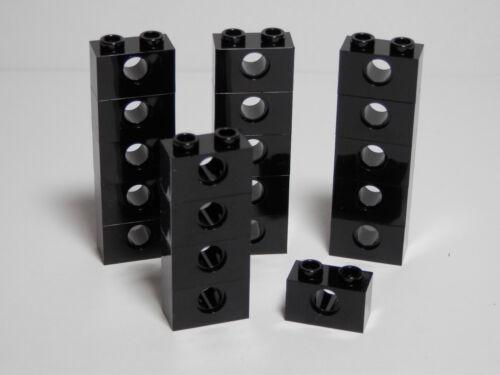 LEGO LEGOS Set of 20 NEW Technic Bricks 1 X 2 with Hole  BLACK