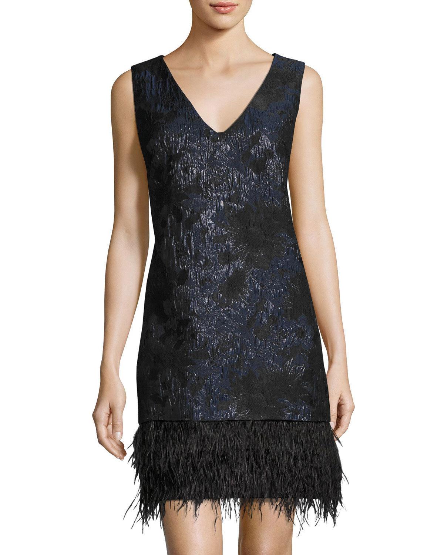 Neuf avec étiquettes NICOLE MILLER nouveau YORK Sz6 Jacquard Fbaguee-ourlet robe sans hommeches noir