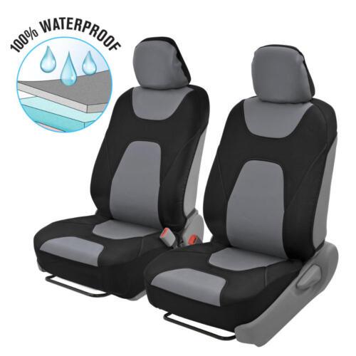 Side Air Bag Safe Waterproof Black Gray Car Seat Covers 3 Layers Snug Fit