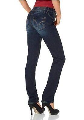 Arizona Perfect Jeans K Gr.18 21 (36 42) NEU Damen Stretch Dark Blue Denim Hose | eBay