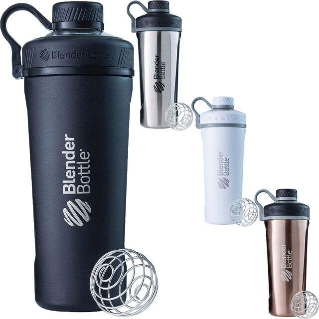 Blender Bottle Radian 26 oz  Stainless Steel Shaker Mixer Cup with Loop Top