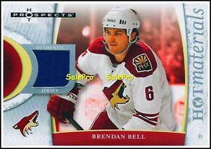 FLEER-HOT-PROSPECTS-2007-BRENDAN-BELL-NHL-PHOENIX-COYOTES-GAME-JERSEY-HMBB