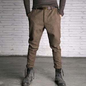 Men's Wool Blend Tweed Casual Peaky