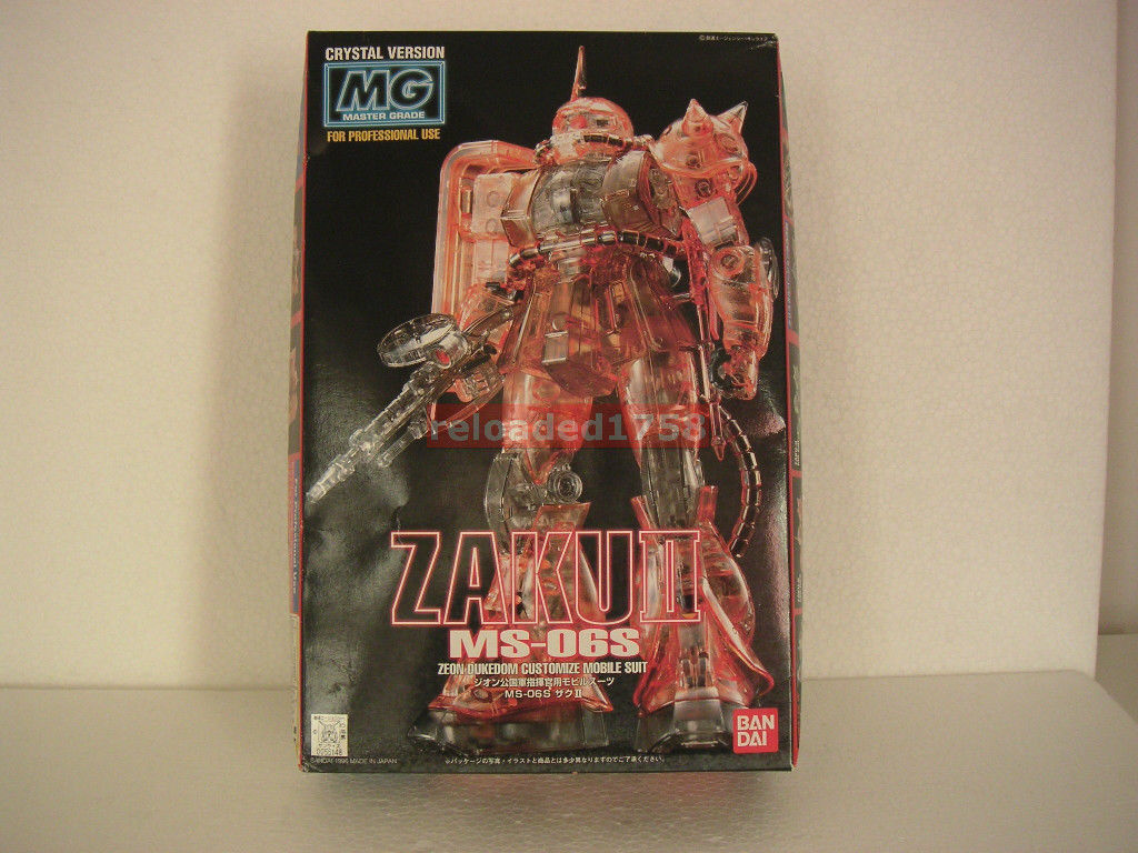 MG 1 100 MS-06S ZAKU II CRYSTAL CLEAR rojo MASTER GRADE JAPAN MODEL KIT GUNDAM