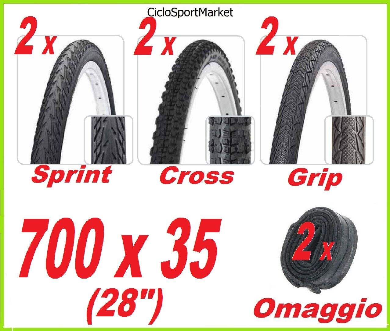 2 x Tyre 700 x 35 bicycle City Bike   Holland + 2 x INNER TUBES FREE GIFT