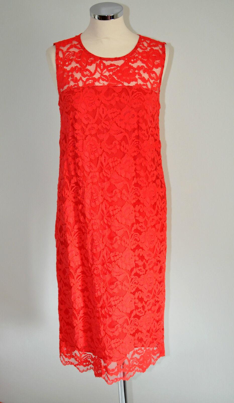 7633901725f0d8 Minx Gr 38 Etuikleid Cocktailkleid Kleid PONG50 Rot NEU Spitze aus ...